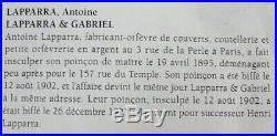 10 cuillères à moka, argent massif Minerve, Art Nouveau, Antoine Lapparra