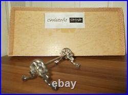 10 porte couteaux en métal argenté CHRISTOFLE piétement griffes et palmettes