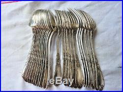 12 Couverts Boulenger Art Nouveau Tulipe Métal Argenté Silver Plated Cutlery