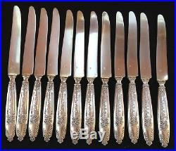 12 couteaux à dessert argent poinçon minerve orfèvre Edouard Pasquet début XXème