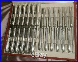 12 couteaux de table métal argenté modèle art nouveau volubilis Lames inox