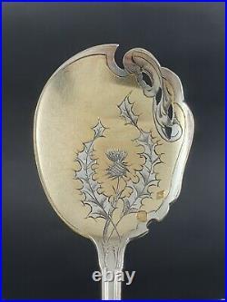 12 cuillères à glace en argent massif minerve Art Nouveau cuillères chardons