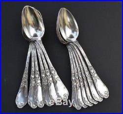 12 cuillères art nouveau tulipes boulenger en métal argenté (jugendstil)