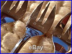 12 fourchettes à huîtres en métal argenté style art déco ERCUIS