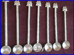 18 cuillères moka argent massif Pièces d' éthiopie prince empereur MENELIK II