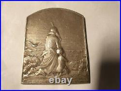 1899 rare médaille art nouveau plaquette argent par Dupré 64x50mm