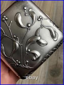 1900 Fine Antique French ART NOUVEAU Silver Étui À CIGARETTE Argent Massif GUI