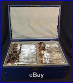 1910 ARGENTAL ménagère 86 pièces métal argent modèle art nouveau couverts chic