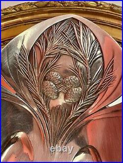 1920 O. Gallia Corbeille à pain Art Nouveau en Métal Argenté Christofle