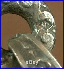 2/ Superbe Crucifix Grande Croix Pectorale En Argent Massif Art Nouveau