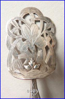 4 couverts à bonbons dessert argent Minerve ART NOUVEAU vers 1900 silver
