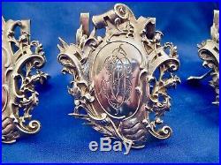 4 porte-menus art nouveau argent massif Edouard Ernie 1882