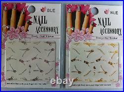 40 stickers fermeture éclaire doré argenté ongles nail art manucure envoi rapide
