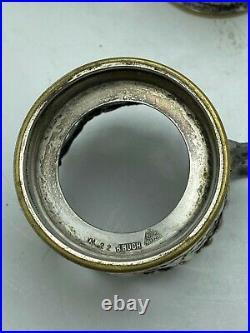 6 portes-gobelet Bracia Buch Warszawa c. 1900 Art nouveau métal argenté