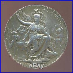 69 mm ARGENT Art Nouveau J. C CHAPLAIN Au Mérite Assurance L'URBAINE VIE