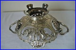 Ancien Milieu De Table En Argent Poinconne Art Nouveau