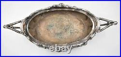 ANCIENNE GRANDE JARDINIERE ART NOUVEAU VICTOR SAGLIER en métal argenté