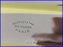 ART NOUVEAU 12 COUTEAUX LAME INOX METAL ARGENTE A FROMAGE DESSERT 20cm