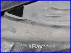 ART NOUVEAU BAROMETRE + THERMOMETRE OISEAUX BRONZE ARGENTE bi-patine RARE