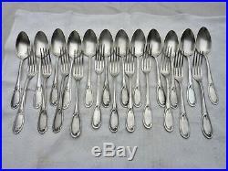 ART NOUVEAU COUVERTS MÉNAGÈRE MÉTAL ARGENTÉ 1900 silver plated cutlery flatware