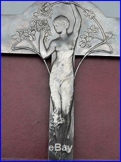 ART NOUVEAU Jugendstil WMF Cadre-double-photo frame FEMME nue métal argenté