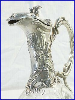 Aiguiere ART NOUVEAU de VICTOR SAGLIER en metal argenté