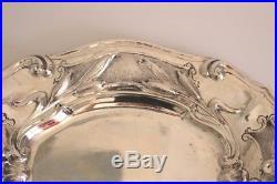 Aiguière casque et son présentoir en argent massif 1279 gr