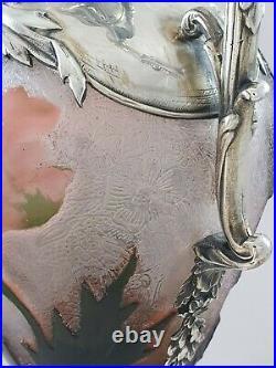 Aiguière en argent massif art nouveau Minerve type Daum
