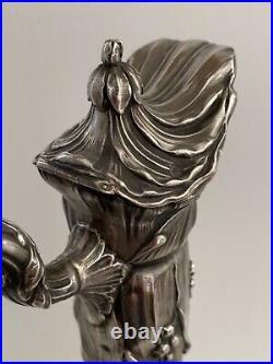 Aiguière en argent massif et cristal 19e siècle style Art Nouveau