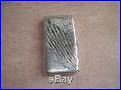 Ancien ÉTUI BOITE à Cigarettes RUSSE en ARGENT Massif Russian Silver Case