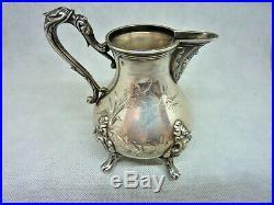 Ancien Pot A Lait Argent Massif Art Nouveau Minerve Solid Silver Milk Pot