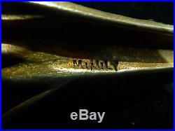 Ancien bijou art nouveau collier pendentif broche signées Miault en argent massi