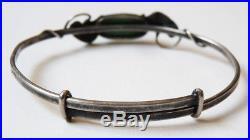 Ancien bracelet en ARGENT massif signé Paul DUMONT Art nouveau vers 1910