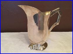 Ancien pichet métal argenté orfèvrerie SUE ET MARE Gallia 1930