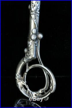 Ancien pommeau d'ombrelle Argent Art Nouveau 1900 Antique cane handle Jugendstil