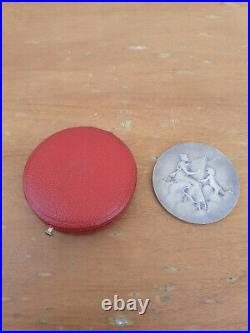 Ancienne Medaille Art Nouveau En Argent Massif Daniel Dupuis Debute Fouquet