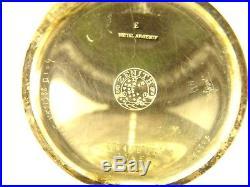Ancienne Montre Gousset Zenith Boitier Metal Argente Art Nouveau Collection