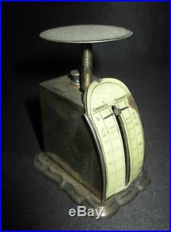 Ancienne balance pèse lettre originale métal argenté début XX ème