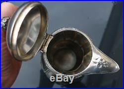 Ancienne verseuse cafetière métal argenté Christofle Gallia Art Nouveau trefle 4