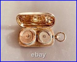 Antique Art Nouveau lily valley silver coin case / Porte Louis argent muguet