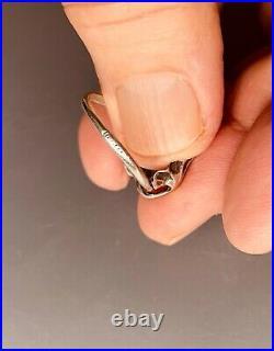 Antique art nouveau signed silver ring / bague art nouveau argent dumont