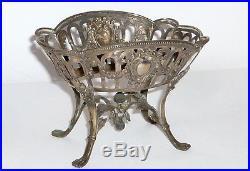 Antique en Argent Bol 800 Argent Historicisme Art nouveau Vasque à poser