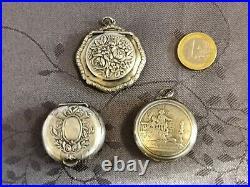 Argent Massif 3 Boites A Pilulles XIX Art Nouveau Louis XVI