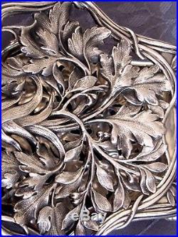 Argent Massif Art Nouveau Splendide Pince A Asperges