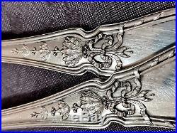 Argent Massif Vermeil Service A Poisson Glace Art Nouveau