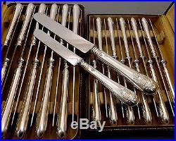 Armand Frenais Menagere 24 Couteaux Metal Argente Et Inox Debut Xx°