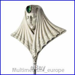 Art Nouveau Argent Epingle A Chapeau Femme France Vert Français Hatpin