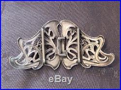 Art Nouveau Argent Massif Boucle Cape Ceinture XIX