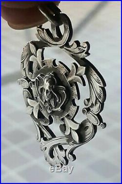 Art Nouveau Bijou, pendentif Argent, poinçon sanglier Grand Prix 1904