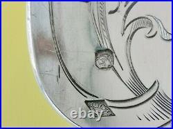 Art Nouveau Boulenger Chardons Rare Service A Glace En Argent Massif